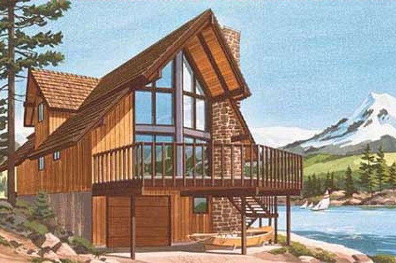 Bungalow Style House Plan - 3 Beds 2 Baths 2195 Sq/Ft Plan #320-301 Exterior - Front Elevation