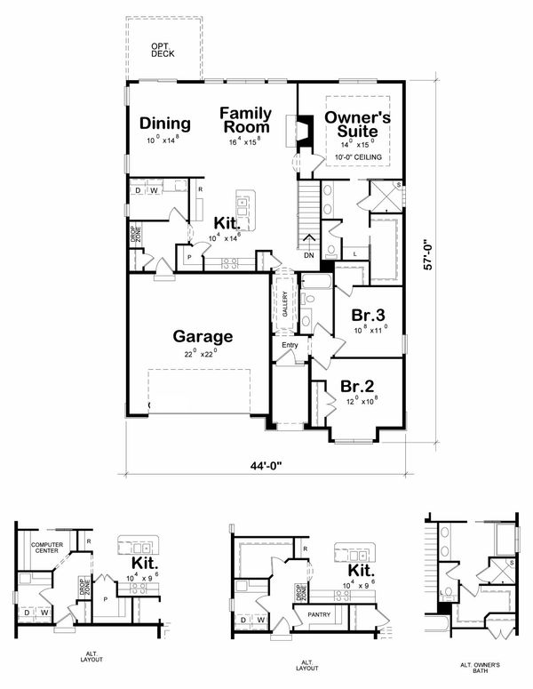 Cottage Floor Plan - Main Floor Plan Plan #20-2190