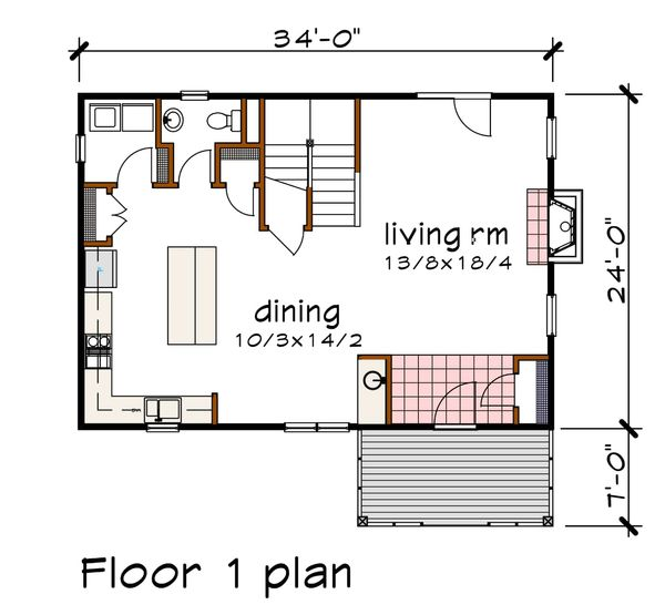 Modern Floor Plan - Main Floor Plan #79-298