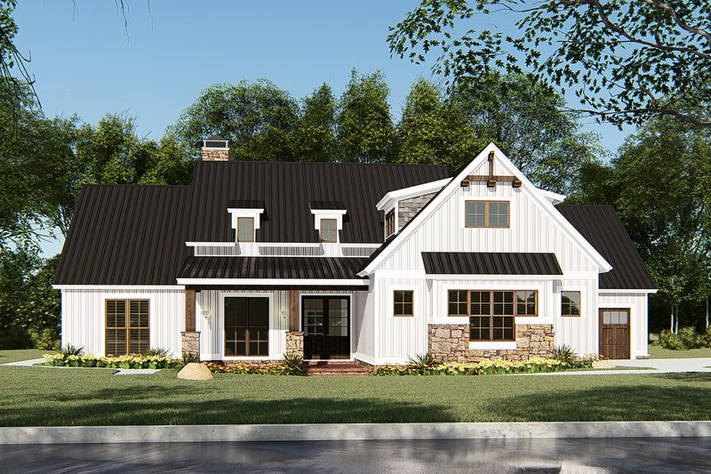Country Exterior - Front Elevation Plan #923-131