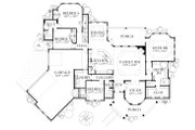 European Style House Plan - 4 Beds 4 Baths 3040 Sq/Ft Plan #80-200 Floor Plan - Main Floor Plan