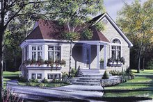 Traditional Exterior - Front Elevation Plan #23-196