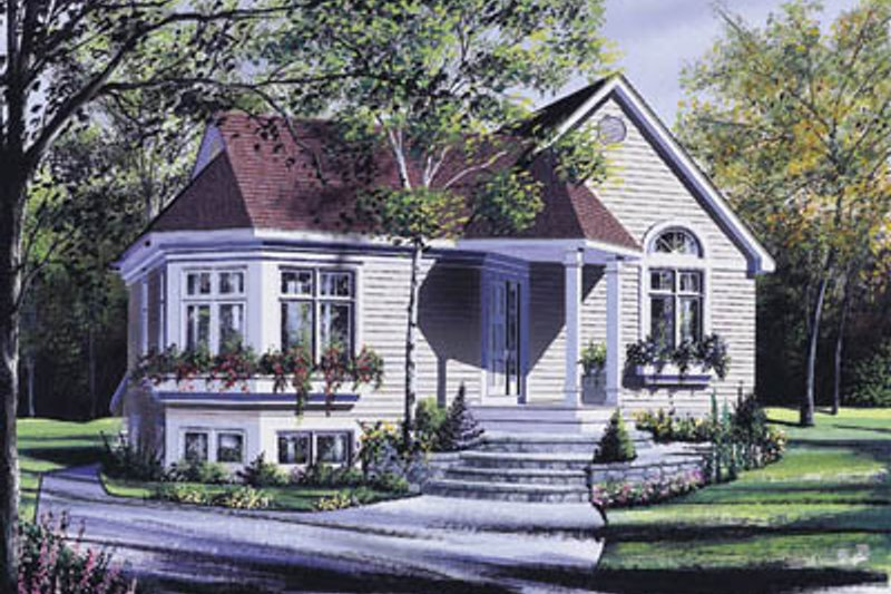 Traditional Exterior - Front Elevation Plan #23-196 - Houseplans.com
