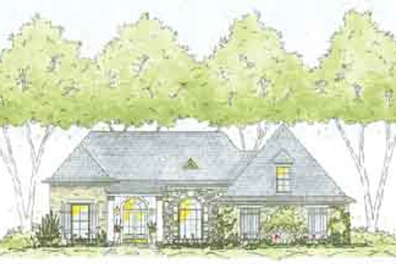 Southern Exterior - Front Elevation Plan #36-427