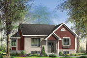 Traditional Style House Plan - 2 Beds 1 Baths 1107 Sq/Ft Plan #25-4450 Exterior - Front Elevation
