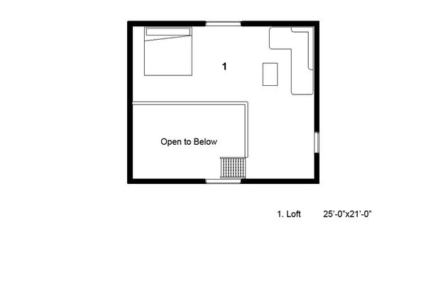 Cottage Floor Plan - Other Floor Plan Plan #497-62