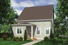 Cottage Exterior - Rear Elevation Plan #48-572