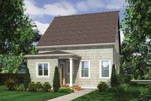 Cottage Exterior - Rear Elevation Plan #48-572