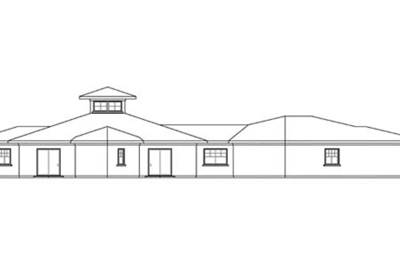 Ranch Exterior - Other Elevation Plan #124-864 - Houseplans.com
