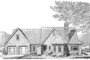 Cottage Style House Plan - 3 Beds 2 Baths 1406 Sq/Ft Plan #410-145 Exterior - Front Elevation