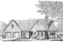 Cottage Exterior - Front Elevation Plan #410-145