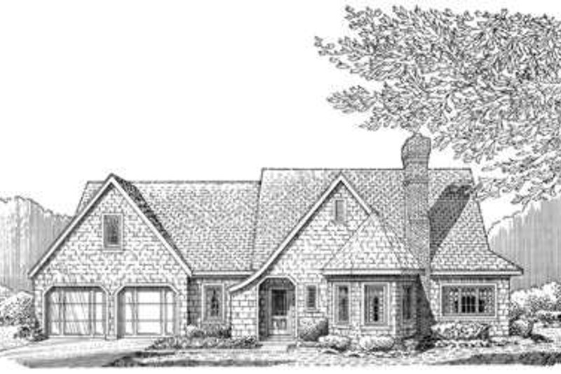 Cottage Exterior - Front Elevation Plan #410-145
