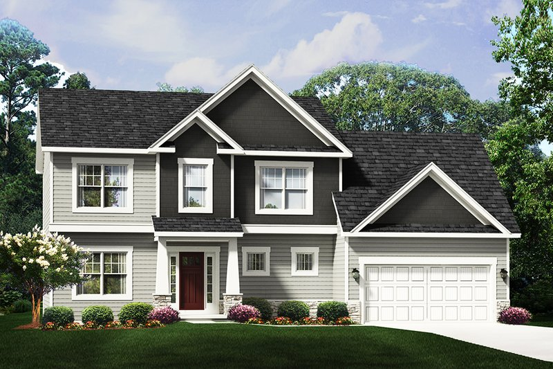 Traditional Style House Plan - 3 Beds 2.5 Baths 2100 Sq/Ft Plan #1010-240 Exterior - Front Elevation