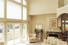 Mediterranean house plan, living room photo