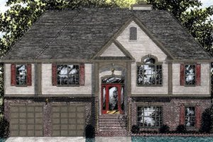 Architectural House Design - Traditional Exterior - Front Elevation Plan #56-119