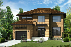 Contemporary Exterior - Front Elevation Plan #25-4348