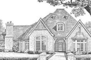 European Style House Plan - 3 Beds 3.5 Baths 3619 Sq/Ft Plan #310-336 Exterior - Front Elevation
