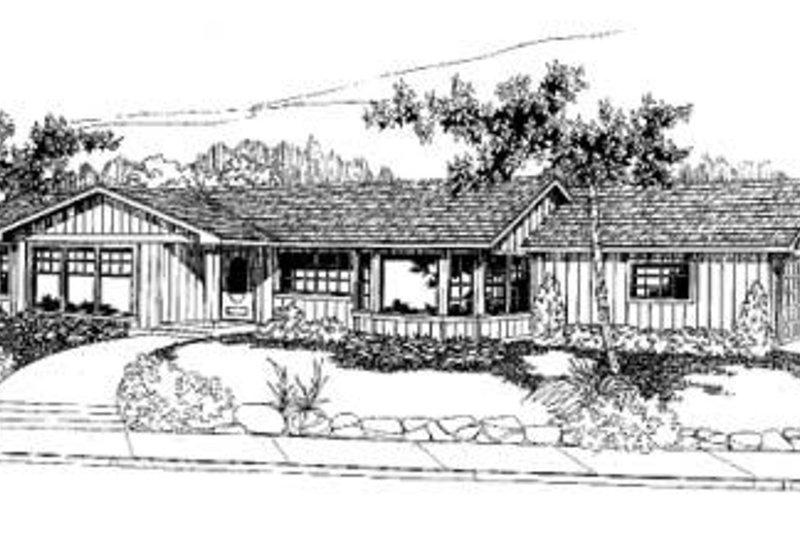 Ranch Exterior - Front Elevation Plan #60-316