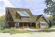 Craftsman Style House Plan - 4 Beds 3.5 Baths 2968 Sq/Ft Plan #901-4 Exterior - Front Elevation