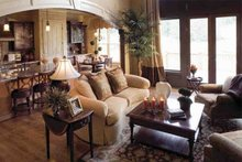 European Interior - Family Room Plan #927-18
