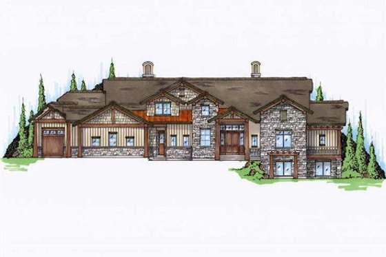 Bungalow Exterior - Front Elevation Plan #5-422