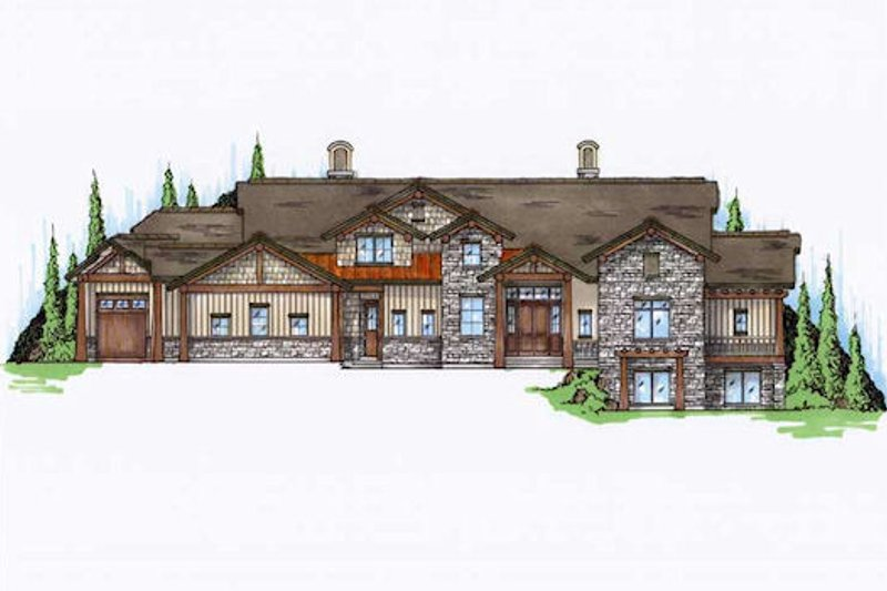 Bungalow Style House Plan - 5 Beds 6.5 Baths 4222 Sq/Ft Plan #5-422