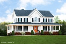 Country Exterior - Front Elevation Plan #929-75