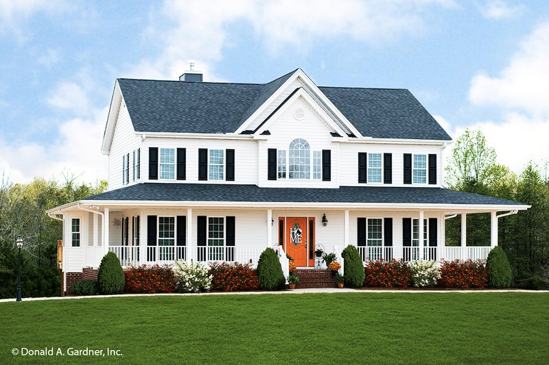 House Plan Design - Country Exterior - Front Elevation Plan #929-75