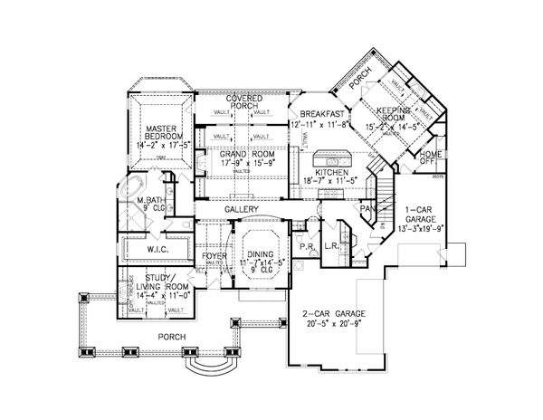 Traditional Floor Plan - Main Floor Plan #54-406