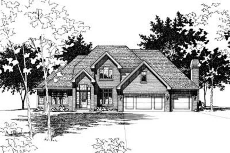 Traditional Exterior - Front Elevation Plan #20-1071 - Houseplans.com