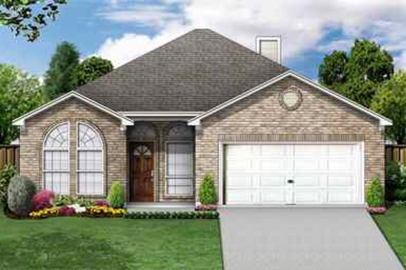 Traditional Exterior - Front Elevation Plan #84-115 - Houseplans.com