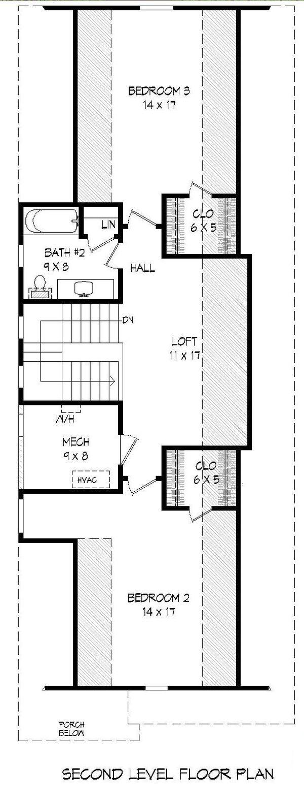 Dream House Plan - Traditional Floor Plan - Upper Floor Plan #932-269