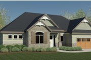 Craftsman Style House Plan - 2 Beds 2 Baths 1777 Sq/Ft Plan #920-108