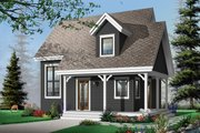 Cottage Style House Plan - 2 Beds 2 Baths 1200 Sq/Ft Plan #23-661 Exterior - Front Elevation