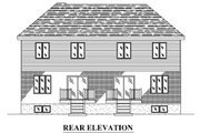 Traditional Style House Plan - 6 Beds 4.5 Baths 1264 Sq/Ft Plan #138-348 Exterior - Rear Elevation