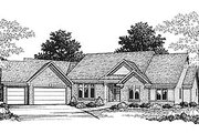 Traditional Style House Plan - 3 Beds 2.5 Baths 2040 Sq/Ft Plan #70-293 Exterior - Front Elevation