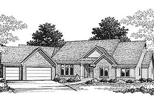 Traditional Exterior - Front Elevation Plan #70-293
