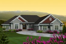 House Plan Design - Ranch Exterior - Front Elevation Plan #70-1123