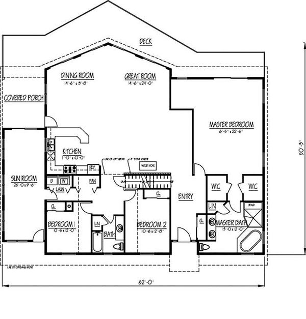 Country Floor Plan - Main Floor Plan Plan #1061-12
