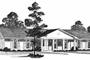 Ranch Exterior - Front Elevation Plan #36-360