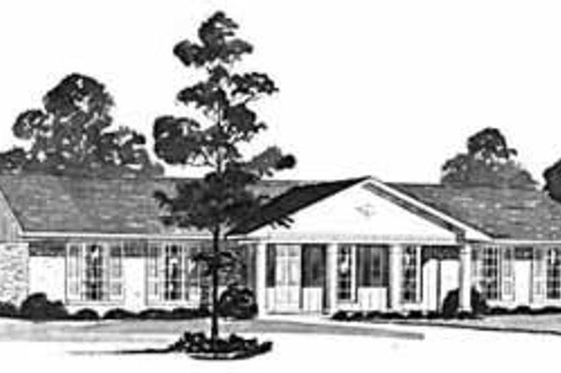 Ranch Exterior - Front Elevation Plan #36-360 - Houseplans.com