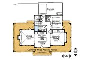 Farmhouse Style House Plan - 3 Beds 2 Baths 1592 Sq/Ft Plan #487-7 Floor Plan - Main Floor