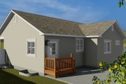 Traditional Style House Plan - 4 Beds 3 Baths 2138 Sq/Ft Plan #1060-54 Exterior - Rear Elevation