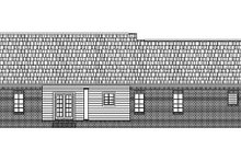 Southern Exterior - Rear Elevation Plan #21-124