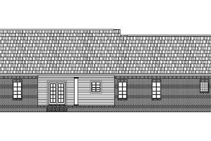 Southern Exterior - Rear Elevation Plan #21-124 - Houseplans.com