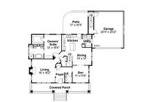 Bungalow Floor Plan - Main Floor Plan Plan #124-485