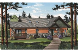Home Plan - Country Exterior - Front Elevation Plan #126-218