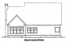 Craftsman Exterior - Rear Elevation Plan #20-355
