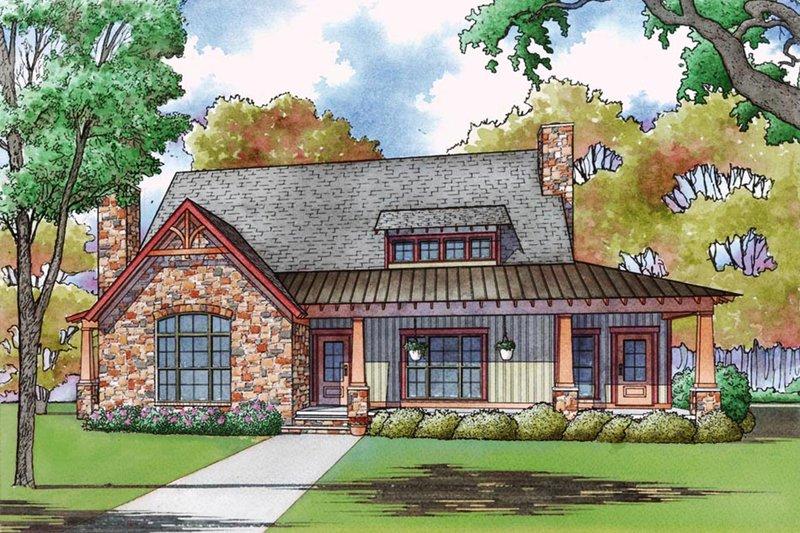 House Plan Design - Cottage Exterior - Front Elevation Plan #923-68