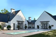 Dream House Plan - Farmhouse Exterior - Rear Elevation Plan #1076-4